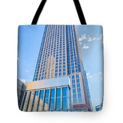 Tall Highrise Buildings In Uptown Charlotte Near Blumental Perfo Tote Bag
