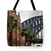Tall Palms Before Beautiful Architecture Tote Bag