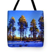 Tall Ponderosa Pine Tote Bag