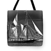 Tall Ship Bw Tote Bag