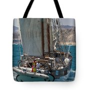 Tall Ship Isla Ebusitania  Tote Bag