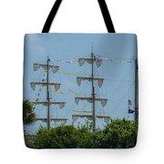 Tall Ship Mast Charleston  Tote Bag