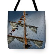 Tall Ship Mast Tote Bag by Suzanne Gaff