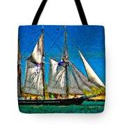 Tall Ship Paint  Tote Bag