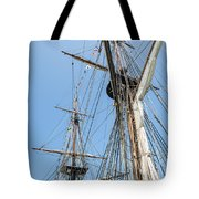 Tall Ship Rigging Tote Bag