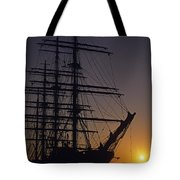Tall Ship Silhouetted Tote Bag