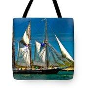 Tall Ship Vignette Tote Bag by Steve Harrington