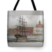 Tall Ship Waterfront Tote Bag
