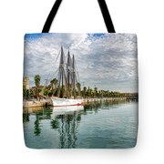 Tall Ships And Palm Trees - Impressions Of Barcelona Tote Bag