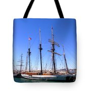 Tall Ships Big Bay Tote Bag