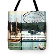Tall Ships On The Sound Tote Bag