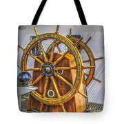 Tall Ships Wheel Tote Bag