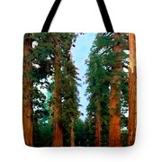 Tall Trees In Yosemite National Park Tote Bag