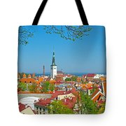 Tallinn From Plaza In Upper Old Town-estonia Tote Bag