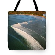Tamarin Bay Surf Going Off Tote Bag