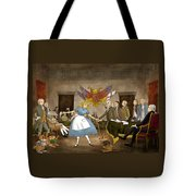 Tammy In Independence Hall Tote Bag by Reynold Jay