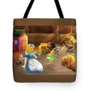 Tammy And Friends In The Backyard Tote Bag