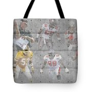 Tampa Bay Buccaneers Legends Tote Bag