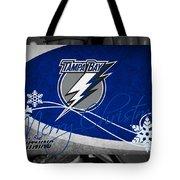 Tampa Bay Lightning Christmas Tote Bag