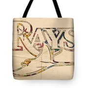 Tampa Bay Rays Logo Art Tote Bag