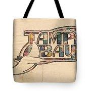 Tampa Bay Rays Poster Art Tote Bag