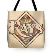 Tampa Bay Rays Vintage Art Tote Bag