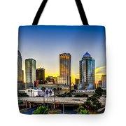 Tampa Skyline Tote Bag