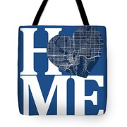 Tampa Street Map Home Heart - Tampa Florida Road Map In A Heart Tote Bag