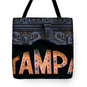 Tampa Theatre Sign 1926 Tote Bag