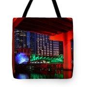 Colorful Tampa Bay Florida Tote Bag
