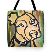 Tan Dog Tote Bag
