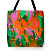 Tangerine And Lime Tote Bag by Donna Blackhall