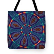 Tangerine And Turquoise Dream Tote Bag
