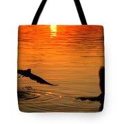 Tangerine Moonlight Tote Bag by Karen Wiles