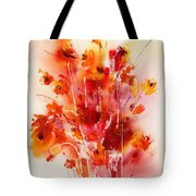 Tangerine Tango Tote Bag by Hailey E Herrera