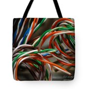 Tangle Of Colorful Wires Tote Bag