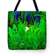 Tangled Garden On The Canal Canadian Art Montreal Landscapes Lachine Quebec Scenes Carole Spandau  Tote Bag