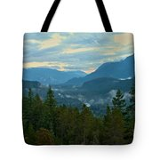Tantalus Mountain Afternoon Landscape Tote Bag