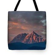 Tantalus Mountain Sunset - British Columbia Tote Bag