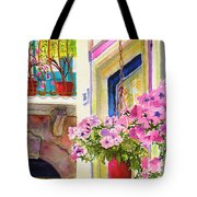 Taormina- Hanging Petunias Tote Bag