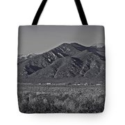 Taos In Black And White II Tote Bag