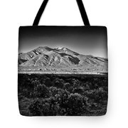 Taos In Black And White X Tote Bag