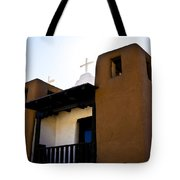 Taos Pueblo Church 2 Tote Bag
