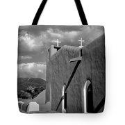 Taos Pueblo Church Tote Bag