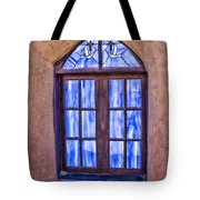 Taos Pueblo Church Window Tote Bag