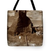 Taos Pueblo Graveyard Tote Bag