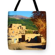 Taos Pueblo South In Autumn Tote Bag