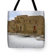 Taos Pueblo With Snow Tote Bag