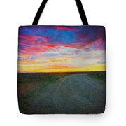 Taos Sunset On Rice Paper Tote Bag