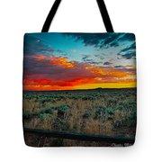Taos Sunset Xi Tote Bag